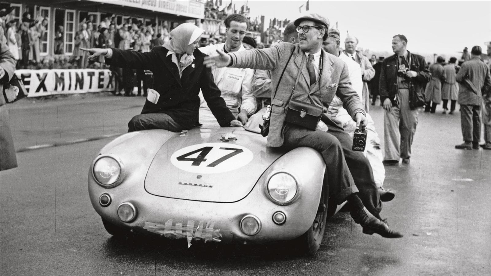 Huschke von Hanstein in the Porsche 550 Syder