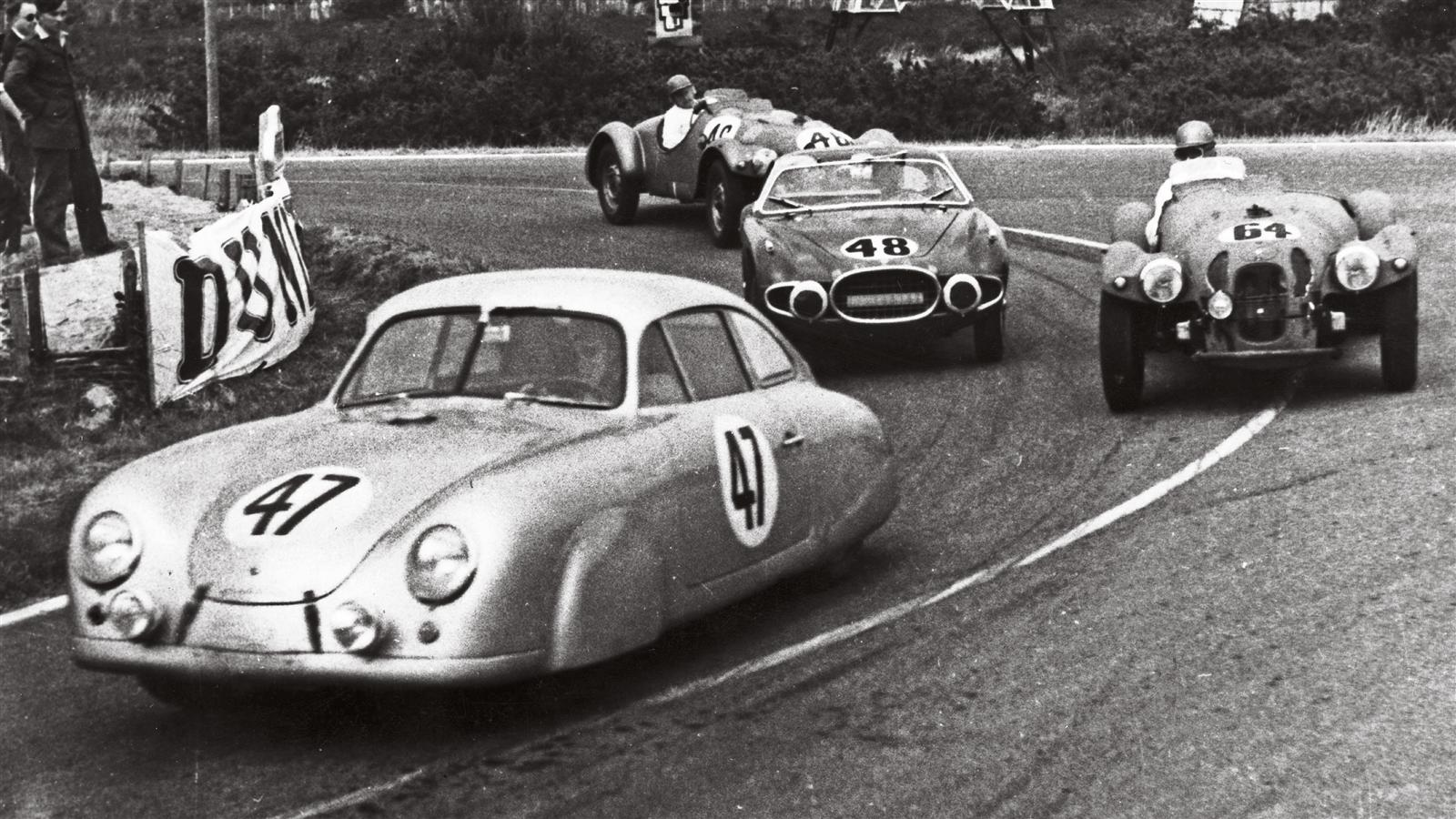 Porsche 356 SL at Le Mans 1952