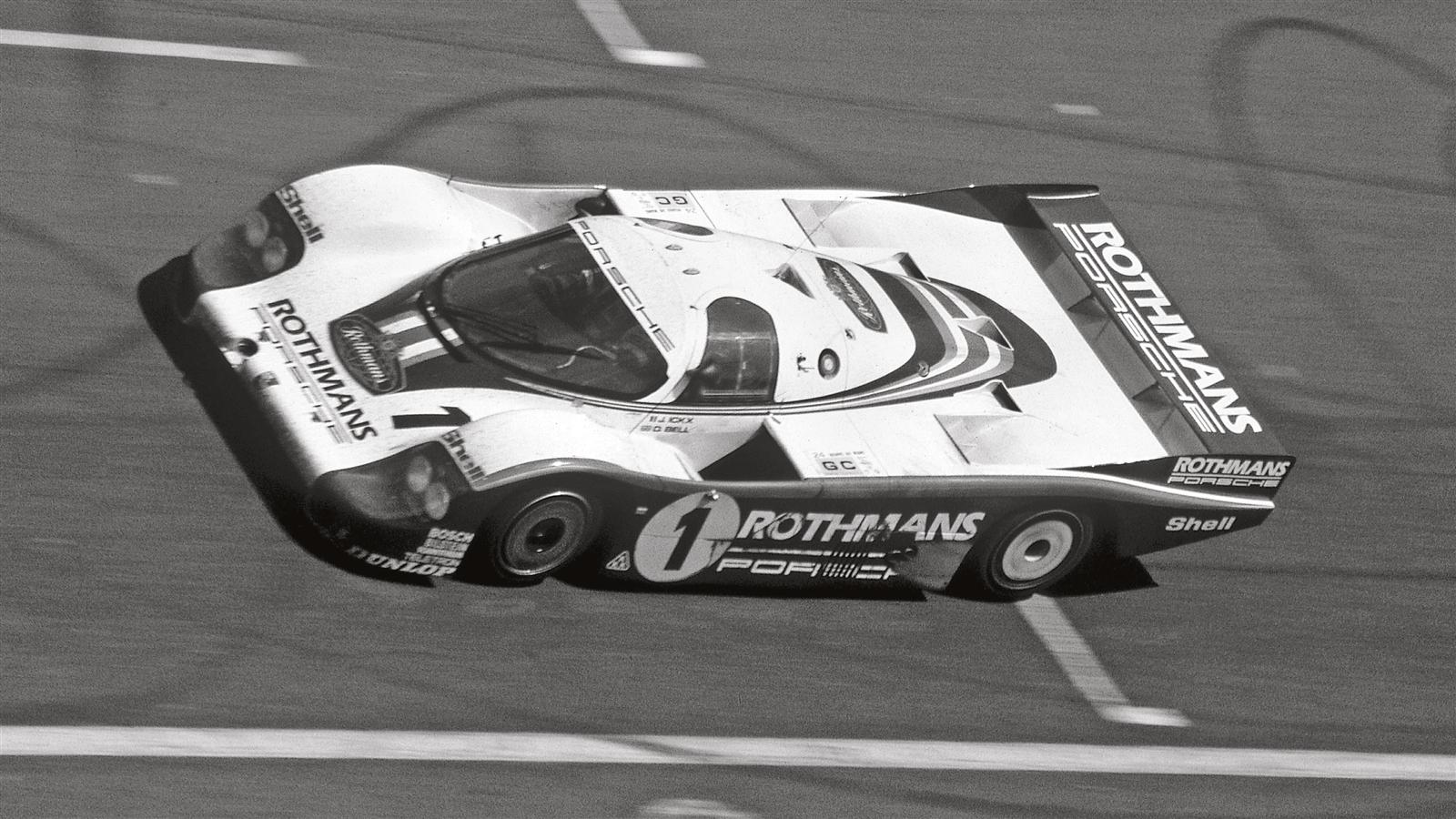 Porsche 956 long-tail at Le Mans in 1982