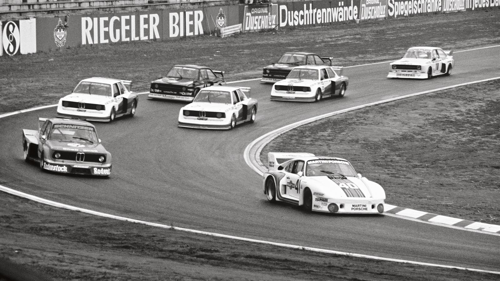 "Porsche 935 ""Baby"" comes in first at Hockenheimring in 1977"